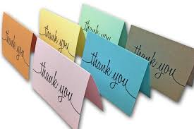 Thank You Note Size Script Thank You Note Cards For Sending Your Appreciation Cutcardstock