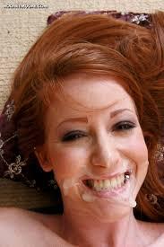 Redhead facial cum video