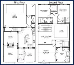 simple 2 story floor plan