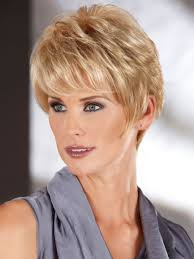 short thick hairstyles women over 50