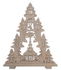 Holztanne Dekoration Holz Tanne Weihnachten Real