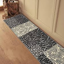 medium size of custom size grey animal print patchwork rubber backed non slip pertaining to classy grey runner rug