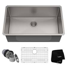 Kraus Standart Pro Undermount Stainless Steel 26 In Single Bowl