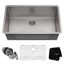 16 gauge undermount single bowl stainless steel kitchen sink