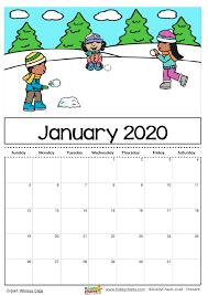 2020 Calendar Editable Free Printable 2020 Calendar For Kids Including An Editable