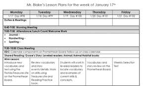 Lesson Plan Templae - Kleo.beachfix.co