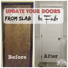 Five Panel Door Headboard From Slab To Fab Diy 5 Panel Door Slab Doors Doors And Wood Trim