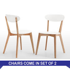 on white scandinavian style dining chairs