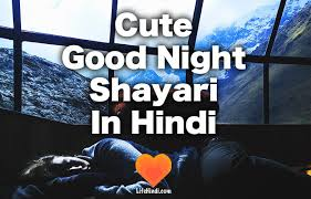 beautiful good night shayari cute
