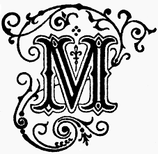 fancy letter m decorative letter m clipart etc
