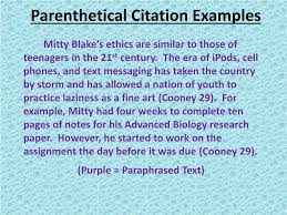 Ppt Parenthetical Citations Powerpoint Presentation Id2978037
