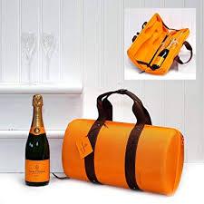 fine food veuve clic traveller bag with veuve clic chagne reims and 2 gl flutes