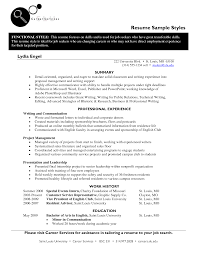 Sample Resume Styles Resume Cv Cover Letter
