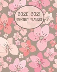 Multi Year Planner 2020 2021 Monthly Planner Pink Cherry Blossom Large 24