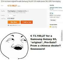 Samsung Galaxy S5 Pre-Sale... Suuuure! by miranmao - Meme Center via Relatably.com