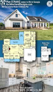 Architectural Designs 51766hz Modern House Plans Plan 51766hz Mid Size Exclusive Modern