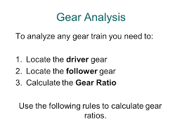 use the following rules to calculate gear ratios