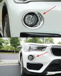 Bmw X1 Fog Light Assembly Replacement Us 31 7 18 Off For Bmw X1 2016 Abs Front Fog Light Lights Cover Frame Trim Eyebrow Lamp Daytime Running Light Covers Car Styling In Chromium Styling