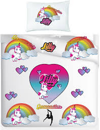 stunning personalised unicorn gym single duvet cover and pillow case set 1