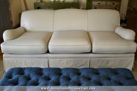 i painted my sofa before after