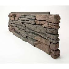 stacked stone keystone 12 in x 38 in faux stone siding corner panel right