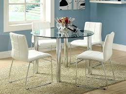 glass top dining table set 4 chairs dining room decorations glass top table modern within round