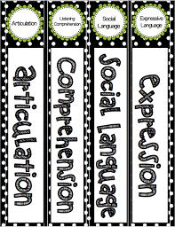 Labeling Binders Editable Speech And Language Binder Labels Speech 2u