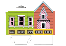 Peach Bum Up House Printable Template Up Movie House Template