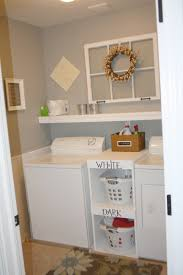 Small Laundry Room Ideas : Simple Small Laundry Room With Shelving Ideas