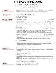 proper font for resume