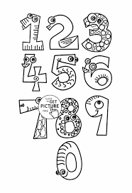Small Picture Number Page Getcoloringpagescom Number Numbers Coloring Pages