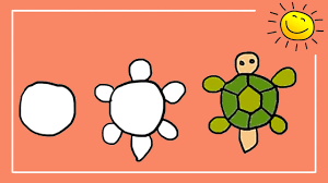 Small Picture Coloring For Kids How to Draw and Color Cartoon Turtle for Kids