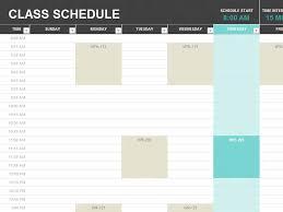 Student Schedule Excel School Schedule Template 9 Free Templates Schedule Templates