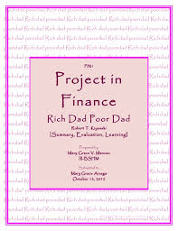 rich dad poor dad summary evaluation ang learning rich dad poordad