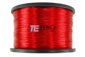 41 awg copper magnet wire mw0574 5 lb magnetic coil red temco temco mw0574 copper magnet wire
