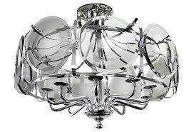 mid century modern chrome beveled glass chandelier replacement