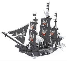 black pearl model building block pirate ship yizhi diy assembled toy