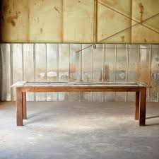reclaimed wood farm table rustic sons of sawdust