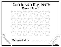 I Brushed My Teeth Rewards Chart
