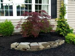 Landscape, Surprising Black And Green Rectangle Traditional Soil Rock  Landscaping Ideas Ornamental Stone And Trees