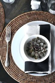 titch wicker round table neutral brown contemporary placemats mats and coasters