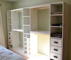wood diy closet system plans