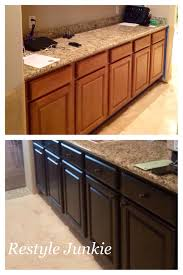 Staining Oak Cabinets Espresso Choosing The Right Dark Gel Stain Java Gel Stain Vs Walnut