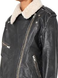 lyst Étoile isabel marant benny shearling collar leather jacket in