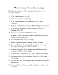 great awakening website guided notes overview essay the great awakening
