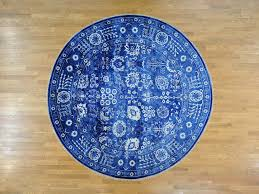 12 1 x12 5 wool and bamboo silk tone on tone tabriz round handmade rug cwr33398