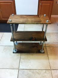 Galvanized pipe side table