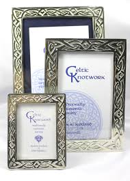 scottish handmade celtic knotwork small pewter picture frame