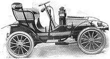 1903 6 hp voiturette with balanced horizontal engine transmission by enclosed belts or available with gear type transmission by renold silent chain to the