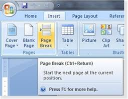 Page Breaks and Section Breaks   Writing Your Thesis or     Page Breaks